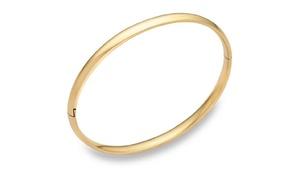 14K Solid gold 5mm bangle