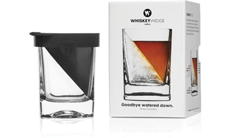 Corkcicle Whiskey Wedge Whiskey Glass with Silicone Ice Form 188aea99-fbd5-4884-95c6-c33ab796b1f0