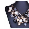 Big Faux Luxury Created Pearl Pendant Necklace for Women
