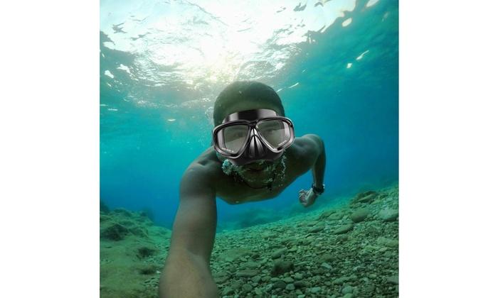 Half Face 180° View Mask Swimming Underwater Diving Snorkel Scuba Glass Anti-Fog