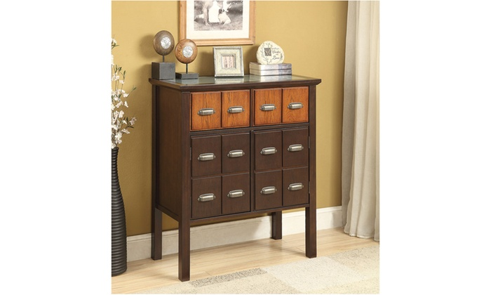 Foyer Table Jcpenney : Vermillion walnut and oak vintage hallway console table