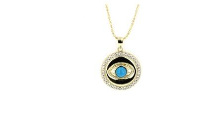 Evil Eye, Silver and Cubic Zirconia Evil Eye Pendant ba4d4269-ac16-424b-853f-d813ce593203