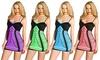 Groupon Goods: Angelina Seamless Mix-Match Layering Dress, Slashed Black