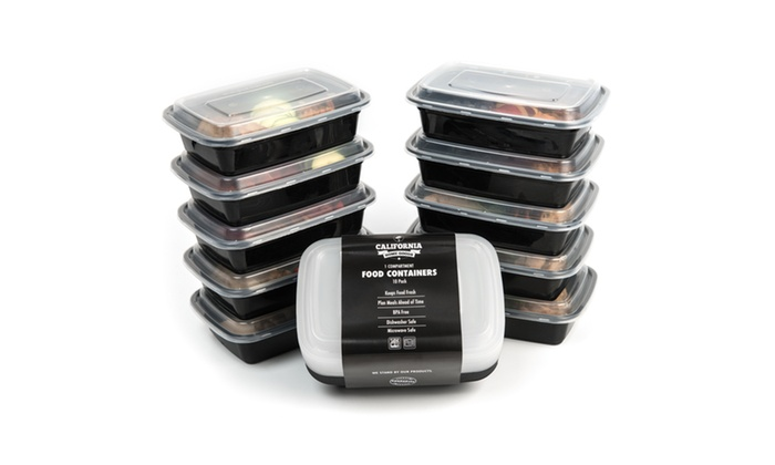 ... Reusable Food Storage Container Sets (10 Pc) By California Home Goods  ...