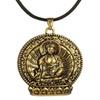 Zinc Alloy Buddha Pendant Leather Unisex Necklace