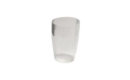 Ribbed Acrylic Tumbler Carnation Home Clear ba4be874-f43c-4700-9882-9b7c16b7f472