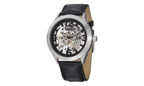 Stuhrling Original Men's Mechanical Skeletonized Genuine Leather Strap Watch b5161a5c-248a-4f4e-8b2a-cee9ac83a551