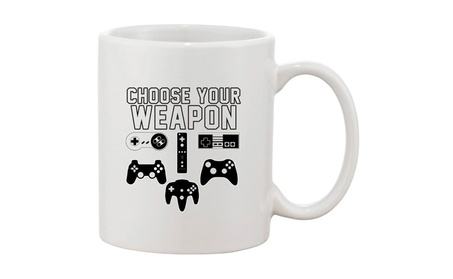 Choose Your Weapon Gaming Console Controller Gamer DT White Coffee Mug 019847e3-fccb-47d2-9afd-88281ee4efbb