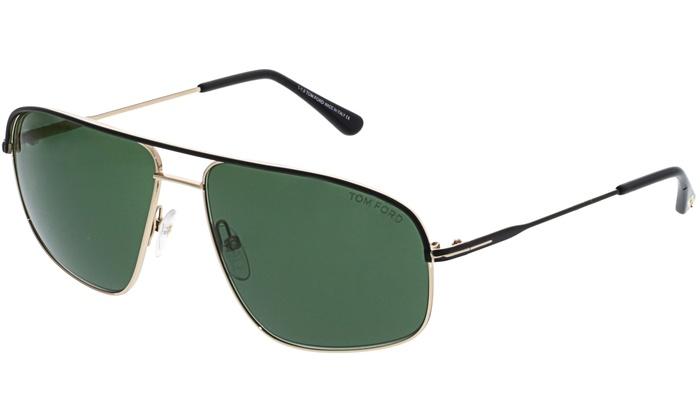 80ecb2b7324a Tom Ford Men s Mirrored Justin FT0467-02N-60 Matte Black Geometric  Sunglasses ...