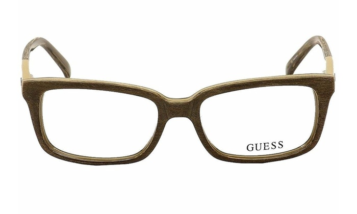 63dbbe60bc Guess Eyeglasses GU1846 K57 54 Light Brown Frame   Clear Lenses ...