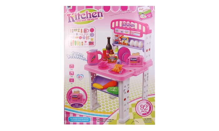 Happy Shef Gourmet Kitchen Cooking Pretend Play Set | Groupon