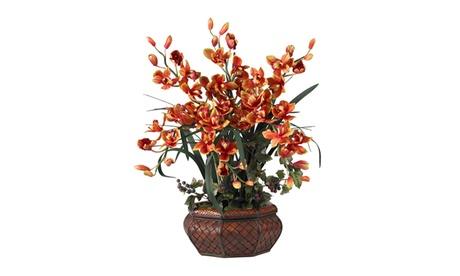 Nearly Natural Large Cymbidium Silk Flower Arrangement 16f8e5c2-afd1-4ca8-acd6-6849d0f03d4e