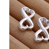 Silver Infinite Love Earrings