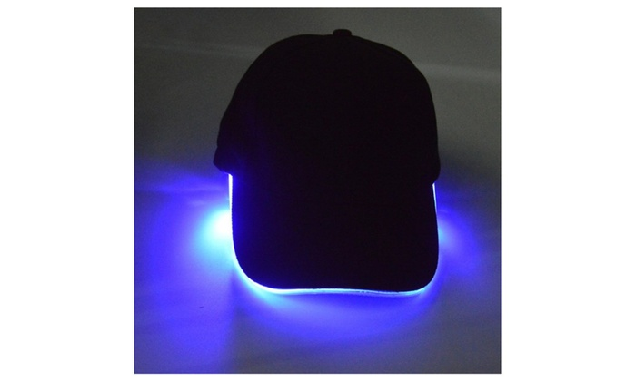 Men's Cotton Twill Navy LED Lighted Cap Luminous Cap(Without Battery)