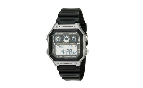 322fa4719 Deal Options. Men's AE-1300WH-8AVCF Illuminator Digital Display Quartz  Black Watch