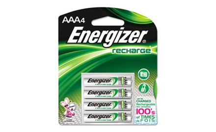Energizer NiMH Rechargeable Batteries, AAA, 4 Batteries (EVENH12BP4)