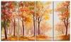 Autumn Everywhere Forest Landscape Metal Wall Art 48x28 4 Panels