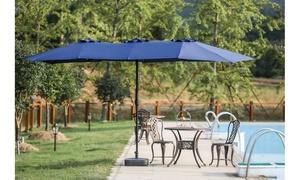 Twin 15' x 9' Rectangular Market Umbrella