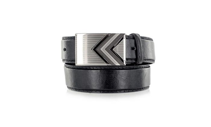 Faddism Men's Genuine Leather Belt Double Arrow