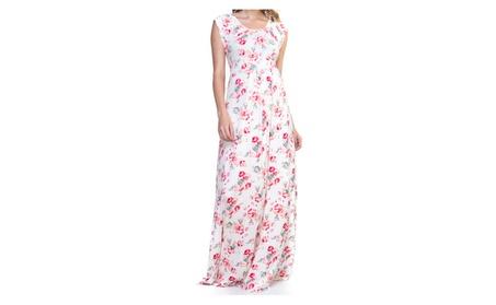Ellie Flora Maternity Rayon Maxi Dress