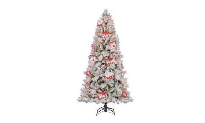 artificial northern estate white flocked christmas tree - White Flocked Christmas Trees