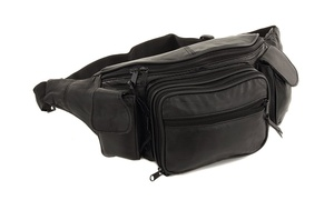 Genuine Leather Fanny Pack with 8 Pocket