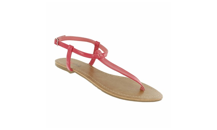 Red Circle Women's Rattle Thong Ankle Strap