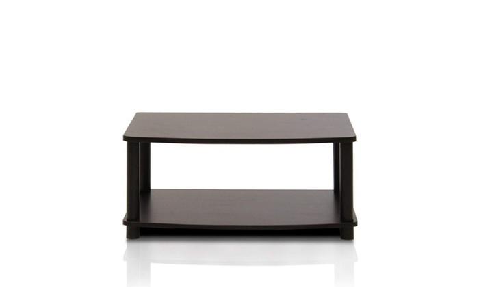 Modern Espresso Coffee Table Small
