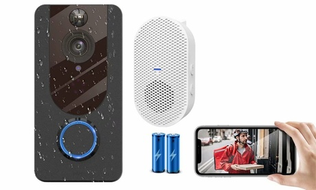 1080P Smart Video Doorbell Camera with Chime WiFi Video Doorbell Security Camera