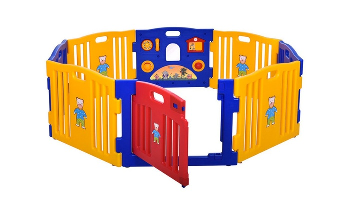 Image Placeholder Image For Baby Playpen Kids 8 Panel Home Indoor Outdoor  Yard Safety Play Center