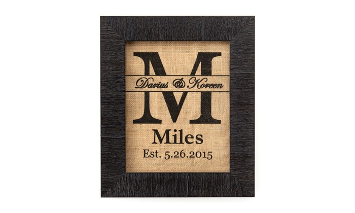 Burlap Bay 8x10 Personalized Burlap Wall Art ...