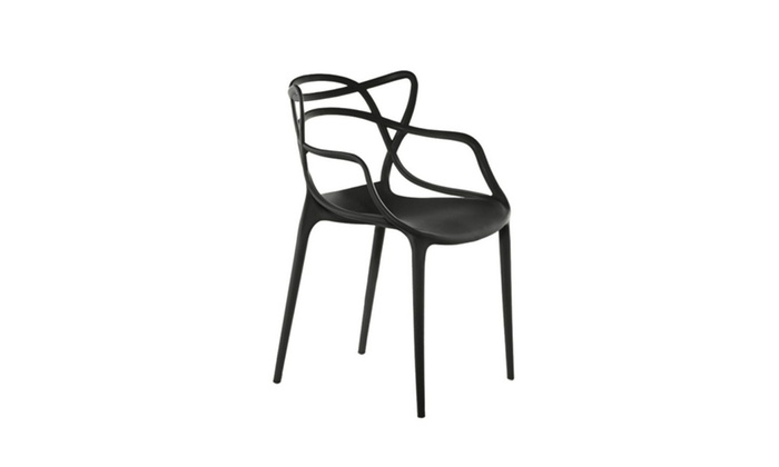 Wondrous Newton 4 Pack Indoor Outdoor Accent Chairs In Polypropylene Gmtry Best Dining Table And Chair Ideas Images Gmtryco