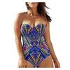 Women's Sweetheart Bandeau Printed One-piece Swimwear