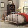 Ariac Dark Bronze Contemporary Twin Bed