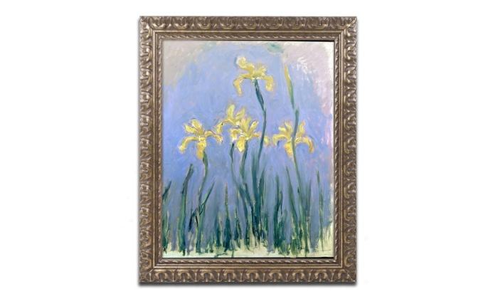 Groupon Goods: Monet 'The Yellow Irises 1918-25' Ornate Framed Art