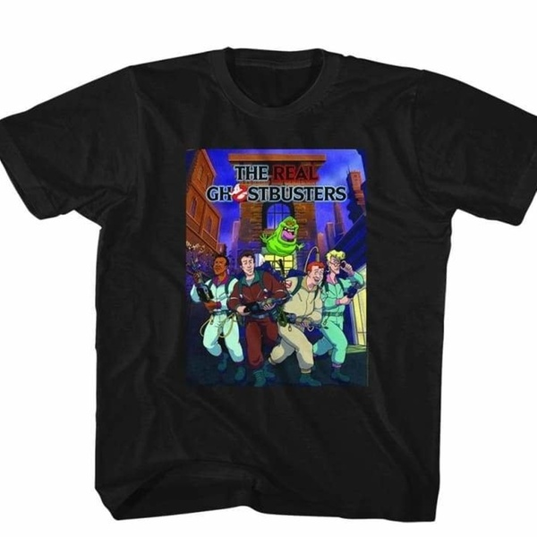 95a91ce6 REAL GHOSTBUSTERS-POSTER-ISH-BLACK TODDLER S/S TSHIRT-2T | Groupon