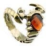 Ancient Bronze Rhinestone Crystal Vintage Scorpion Ring for Men