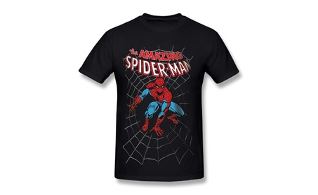 Men's Marvel Comics Spider-man Amazing T-shirt Black 99328ffb-458a-4813-ad3c-1ba286c9c36d
