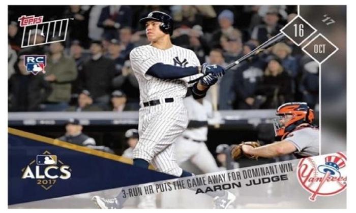 Aaron Judge Rookie Card Alcs New York Yankees 3 Run Hr Game