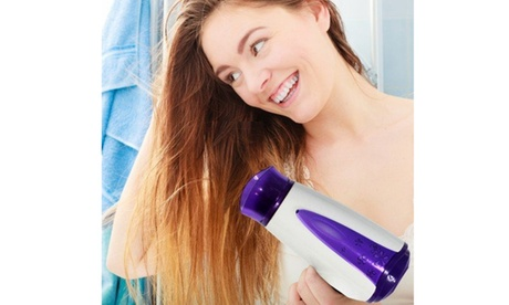 Women's Foldable Hair Dryer With Free Green Hair Brush Hair Styling Tool ce2ccd80-2bc4-4ec9-89c9-2daf5f7d5abd