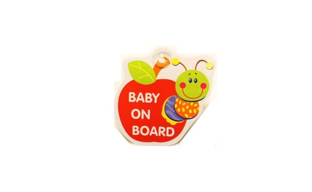 Apple Bug Baby On Board Sign Car Window Sign 273f8d18-57fa-4c6e-bc3d-879e1a64613e
