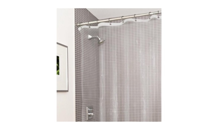 Estilo Heavy Duty Clear No More Mildew PVC Shower Curtain Liner