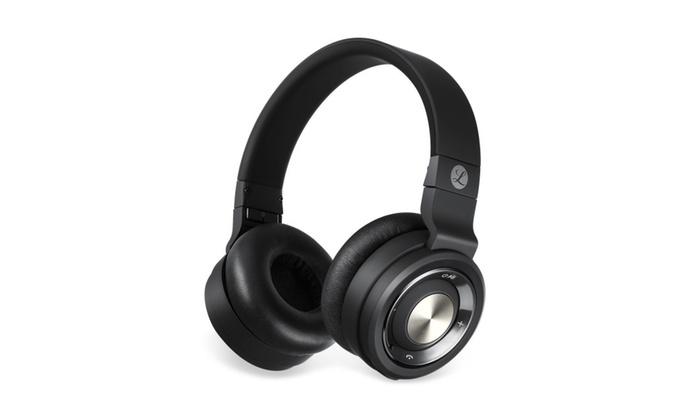 a6eb864aa1b Tranya Stereo Wireless Headphones with Microphone On-ear Foldable ...