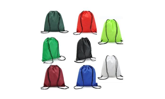 Waterproof Travel Drawstring Backpack Sack Gym School Sport Bag