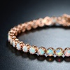 Peermont White Fire Opal Crown Link Tennis Bracelet