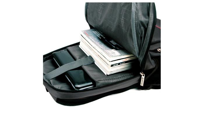 "Lightweight Slim Laptop Backpack Up To 15.6"" Black Padded ..."