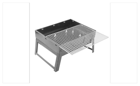 Portable Stainless Steel Charcoal BBQ Grill Folding Barbecue Grill 71858cd6-be06-42b3-b1d8-cd51bb722395