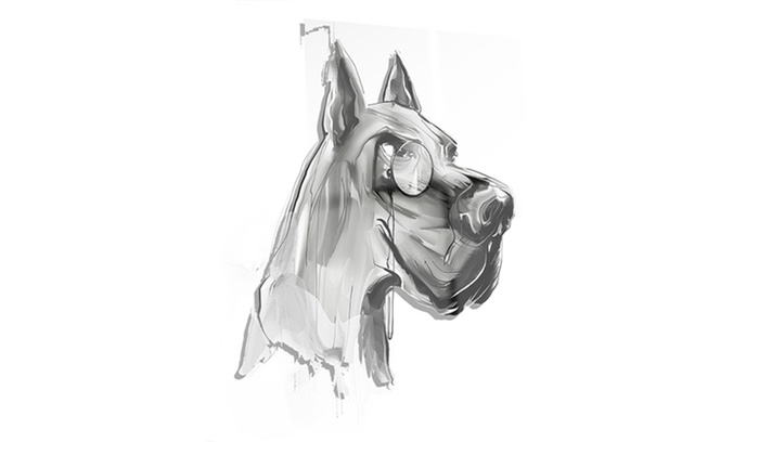 English bulldog with monocle animal metal wall art 12x28 for Monocle promo code