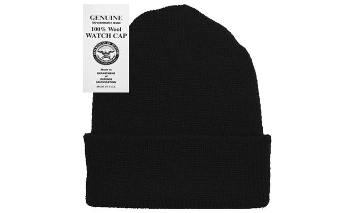 ... Military Genuine GI Winter USN Warm Wool Hat Watch Cap ... f185be26fb7