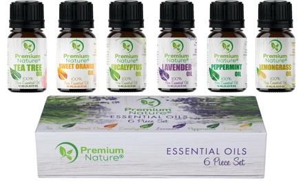 Premium Nature Pure Natural Essential Oil Gift Set (6-Piece)